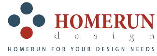 homerun design logo