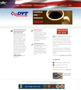 courier services website design